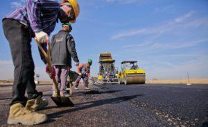 asphalt workers